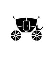 wedding carriage black icon sign on vector image vector image