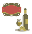 White wine menu icon vector image