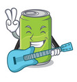 with guitar soft drink character cartoon vector image