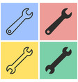 wrench icon set vector image vector image
