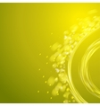 Yellow spiral vector image vector image