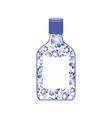 russian vodka bottle gzhel painting national folk vector image