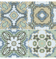 a collection of ceramic tiles in green retro vector image vector image