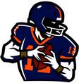 american football ruglogo vector image