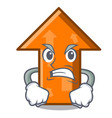 angry arrow mascot cartoon style vector image vector image