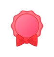 Award ribbon rosette with bow icon cartoon style vector image vector image