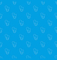 baby pacifier pattern seamless blue vector image vector image