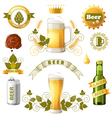 beer emblems vector image