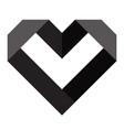 black heart icon love icon vector image