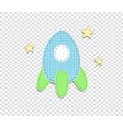 blue baby boy clip art rocket for scrapbook vector image