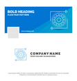 blue business logo template for business gear vector image
