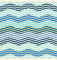 blue waves pattern in patchwork style vector image vector image