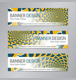 blue yellow website header abstract banner vector image vector image