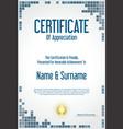 certificate or diploma modern design template vector image vector image