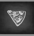 chalk sketch pizza vector image