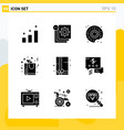 collection 9 universal solid icons icon set vector image vector image