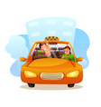 couple taking taxi flat isolated on vector image vector image