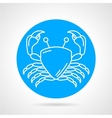 Crab blue round icon vector image vector image