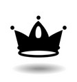 crown icon in trendy flat style black isolated on vector image vector image