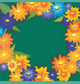 cute flowers autumn wreath on light background vector image vector image