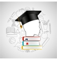eduation online concept student books school vector image