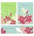 Floral card set with place for your text vector image vector image
