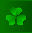 green clover trefoil symbol happy patricks day vector image