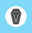 halloween coffin icon sign symbol vector image vector image