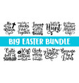 happy easter quotes greeting card text templates vector image