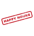 Happy Hours Text Rubber Stamp vector image