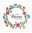 happy mother day spanish flower art greeting card vector image vector image