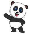 happy panda on white background vector image vector image