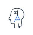 human head profile and mountain summit vector image