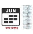June Flat Icon vector image