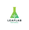 leaf lab nature logo icon vector image vector image