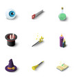 magic equipment icons set isometric style vector image vector image