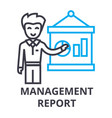 Management report thin line icon sign symbol