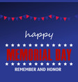 memorial day card with stars vector image vector image