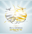 merry christmas and happy new year with gold and vector image vector image