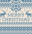 Merry Christmas Scandinavian or russian style vector image vector image