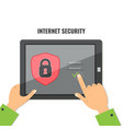 mobile security data protection concept vector image