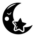 moon icon simple style vector image vector image