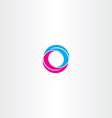 o letter magenta cyan icon logo vector image