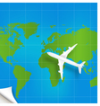 Plane the world map concept vector image