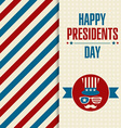 Presidents day retro background vector image