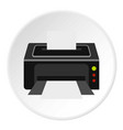 printer icon circle vector image vector image