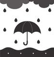 RainyCloudy BW vector image vector image