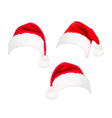 red santa hats vector image vector image