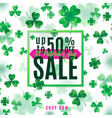 saint patrick day sale vector image vector image