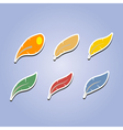 set of color icons with feathers vector image